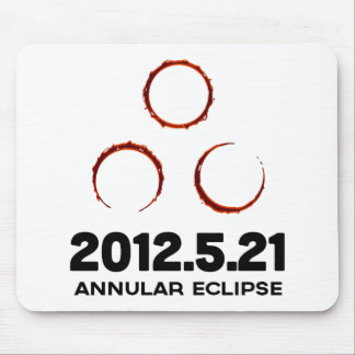 Gold ring solar eclipse mouse pad