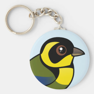 Gold-ringed Tanager Keychain