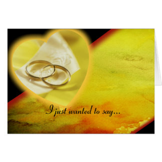 Gold Rings Aglow Card