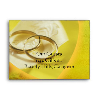 Gold Rings Glow Envelope