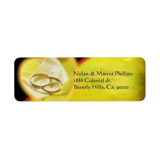 Gold Rings Glow Label