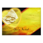 Gold Rings Glow Set 5x7 Paper Invitation Card