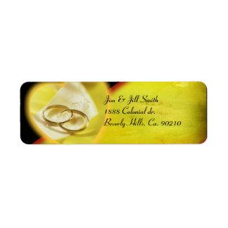 Gold Rings Glow Set Label