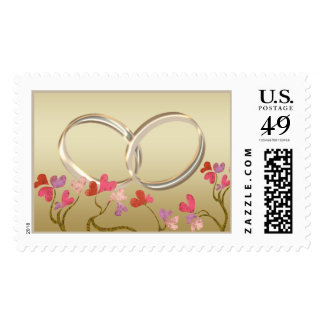 Gold rings stamp with 5 background options
