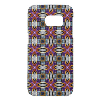 Gold Rings With Royal Purple Pattern Samsung Galaxy S7 Case