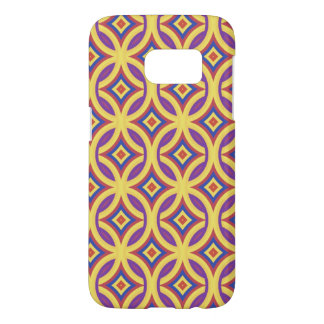 Gold Rings With Royal Purple Red and Blue Pattern Samsung Galaxy S7 Case