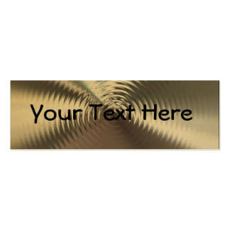 Gold Ripples Profile Business Cards