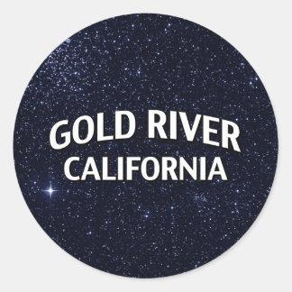Gold River California Classic Round Sticker