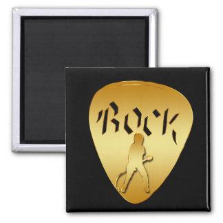 GOLD ROCK GUITAR PICK REFRIGERATOR MAGNETS