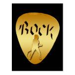 GOLD ROCK GUITAR PICK POSTCARD