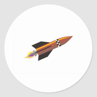 Gold rocket sticker