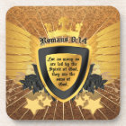 Gold Romans 8:14, Sons of God Drink Coaster