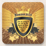 Gold Romans 8:14, Sons of God Drink Coasters