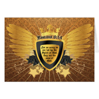 Gold Romans 8:14, Sons of God Greeting Cards