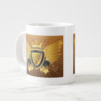 Gold Romans 8:14, Sons of God Large Coffee Mug