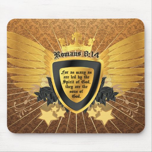 Gold Romans 8:14, Sons of God Mouse Pads
