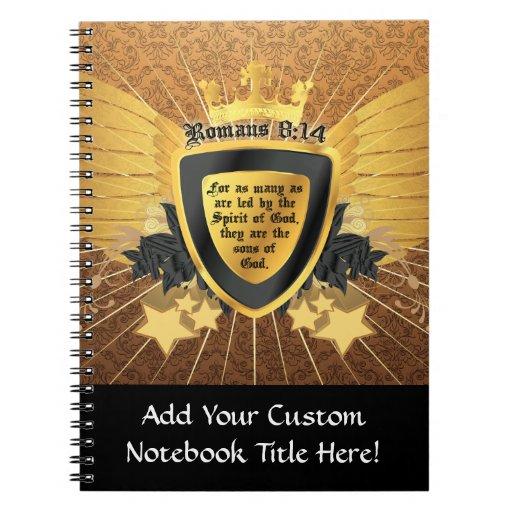 Gold Romans 8:14, Sons of God Notebooks