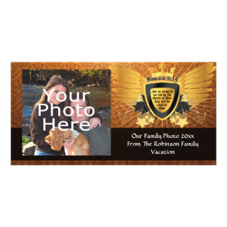 Gold Romans 8:14, Sons of God Photo Card