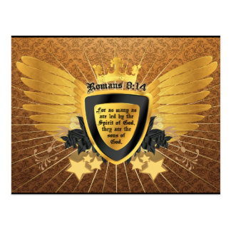 Gold Romans 8:14, Sons of God Postcard