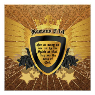 Gold Romans 8:14, Sons of God Posters