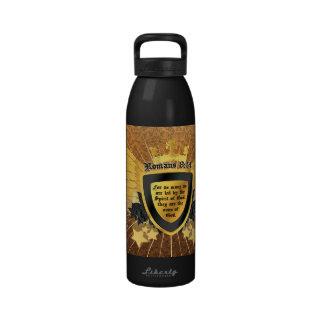 Gold Romans 8 14 Sons of God Drinking Bottle