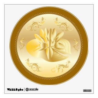 GOLD ROMANTIC OCCASIONS CELEBRATION WALL DECAL
