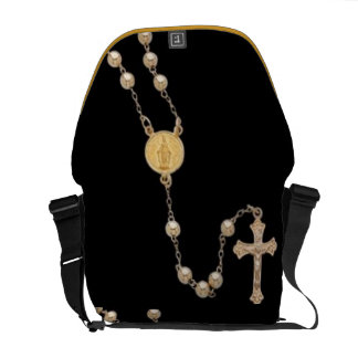 gold ROSARY  by mrtimothy Messenger Bag