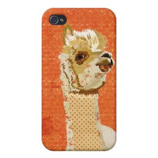 Gold Rose Alpaca iPhone Case
