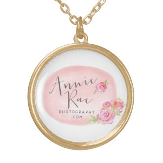 Gold Rose Annie Rae Photography Logo Necklace