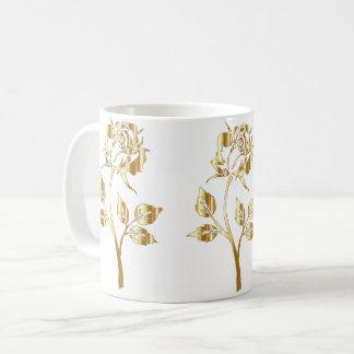 Gold Rose Coffee Mug