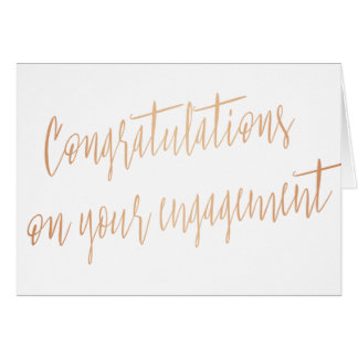 "Gold rose ""Congratulations on your engagement"" Card"
