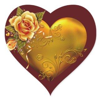 Gold Rose Decorative sticker