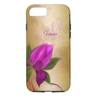 Gold Rose Floral Marble iPhone 7 Case