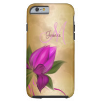 Gold Rose Floral Marble Tough iPhone 6 Case