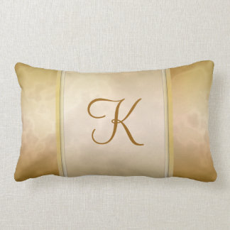 Gold Rose Marble Personalized Throw Pillow