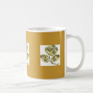 Gold rose mugs