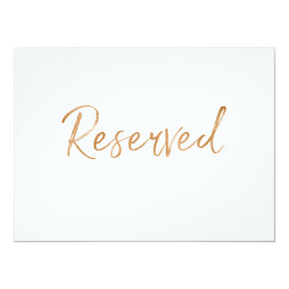 "Gold Rose ""Reserved"" Wedding Sign 