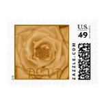 Gold Rose RSVP Stamp
