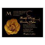 Gold Rose Wedding Metallic Paper Invites