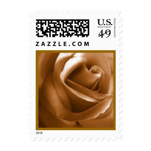 GOLD Rose Wedding Stamp