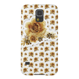 Gold Rose with Golden Delicious flowers Pattern Galaxy S5 Cover