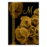 GOLD Roses & Lace Wedding Invitations