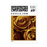 GOLD Roses SMALL Wedding Stamp Lace Accent