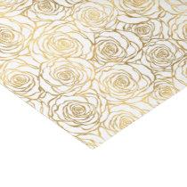 Gold Roses Tissue Paper