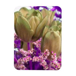 Gold Roses W/Purple N Pink Fridge Magnet