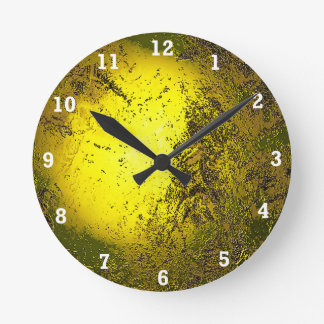Gold Round Clock