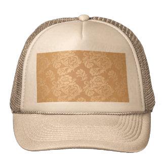 Gold royal damask vintage floral victorian elegant mesh hats