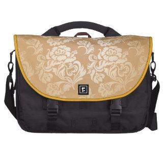 Gold royal damask vintage floral victorian elegant bag for laptop