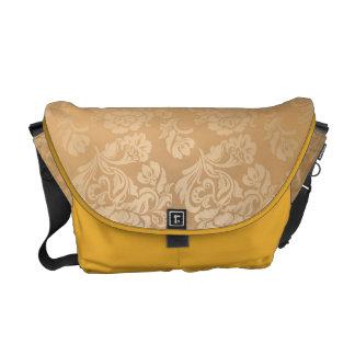 Gold royal damask vintage floral victorian elegant messenger bag
