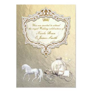 Gold Royal Princess Storybook Carriage U0026amp; Unicorn Card